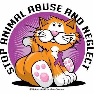 Animal Abuse Cat Photo Sculptures