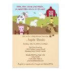 Animal Acres Farm Animal Baby Shower NEUTRAL AAK Card