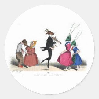 Animal acting human – Grandville Metamorphoses Round Sticker