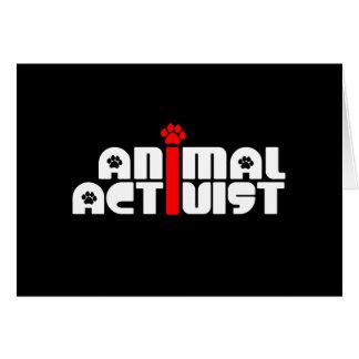 Animal Activist Greeting Card
