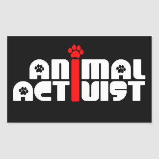 Animal Activist Rectangular Sticker