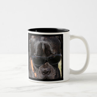 Animal Actors at ExtrasForMovies.com Two-Tone Coffee Mug