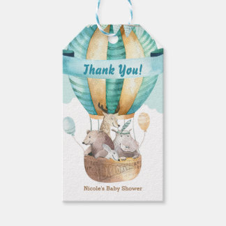 Animal Adventure Watercolor Boho Baby Shower Favor Gift Tags