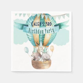 Animal Adventure Watercolor Boho Birthday Party Disposable Napkin
