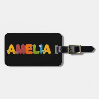 animal alphabet Amelia Luggage Tag