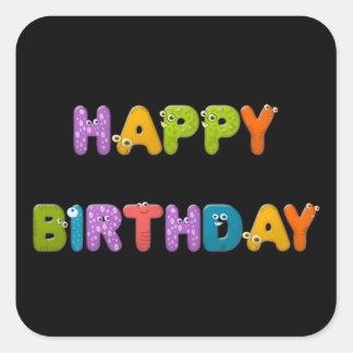 animal alphabet birthday sticker