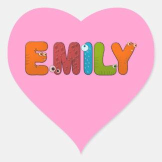 animal alphabet Emily Heart Sticker