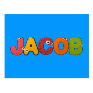 animal alphabet Jacob Postcard