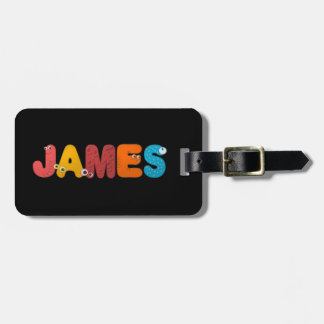 animal alphabet James Bag Tag