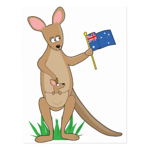 Animal Alphabet Kangaroo Post Card