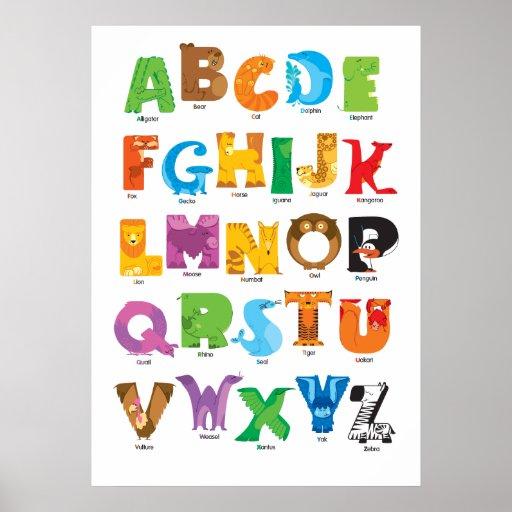Animal Alphabet Print