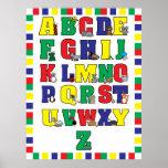 Animal Alphabet Poster (Primary Colours) Print