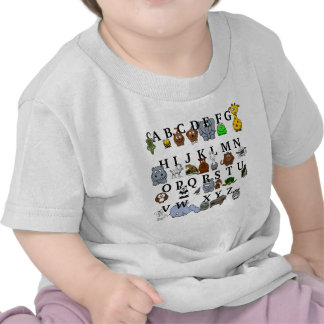 Animal Alphabet T-shirts