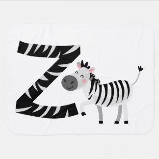 Animal Alphabet-Z Baby Blanket