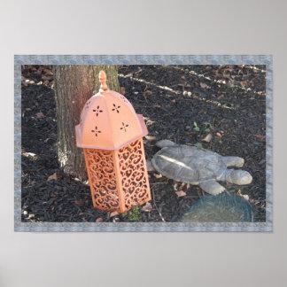 Animal Art - Tortoise Lamp Shade n tree base Poster