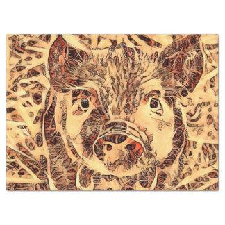 Animal ArtsStudio- amazing piglet Tissue Paper