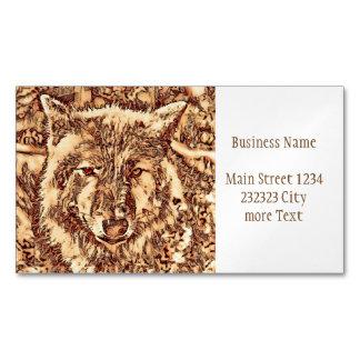 Animal ArtsStudio- amazing wolf Magnetic Business Card