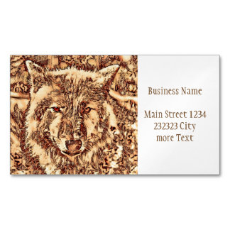 Animal ArtsStudio- amazing wolf Magnetic Business Cards