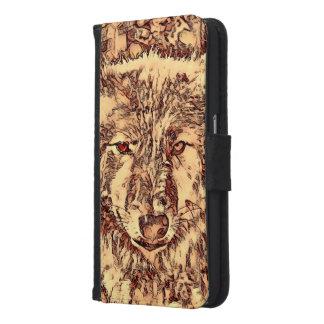 Animal ArtsStudio- amazing wolf Samsung Galaxy S6 Wallet Case