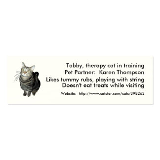 Animal-Assisted Therapy/Activities Card Template Pack Of Skinny Business Cards