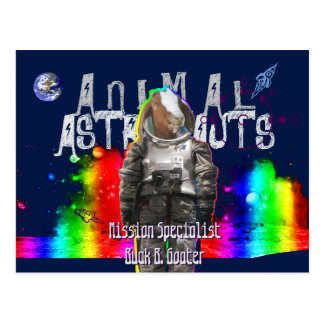 Animal Astronauts Goat Postcard