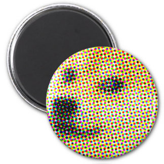 Animal attraction! Magnetic doges for your fridge 6 Cm Round Magnet
