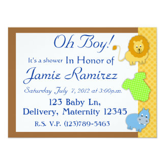 animal baby-shower invitation