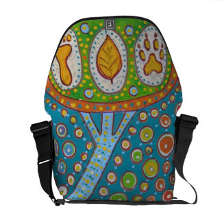 Animal bag messenger vegan human planet messenger bags