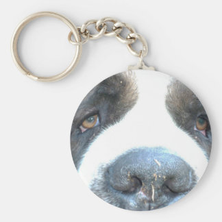 Animal Basic Round Button Key Ring