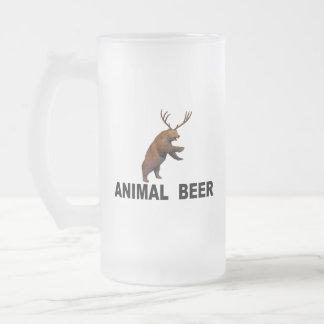 Animal Beer Frosted Glass Beer Mug