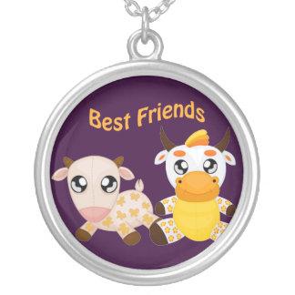 Animal Best Friends Round Pendant Necklace