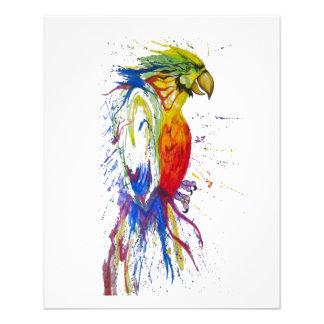 Animal Bird Parrot 11.5 Cm X 14 Cm Flyer