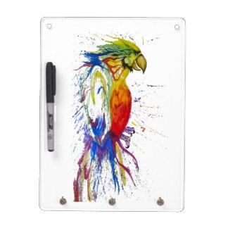 Animal Bird Parrot Dry Erase Board