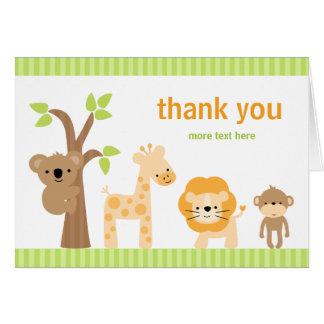 Animal Birthday Thank You Card