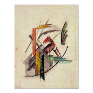 Animal by Franz Marc, Vintage Expressionism Art Poster