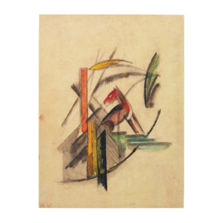 Animal by Franz Marc, Vintage Expressionism Art Wood Print