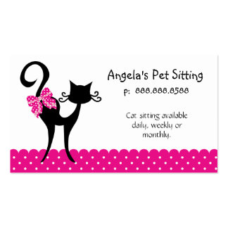 Animal Cat Sitter Business Card