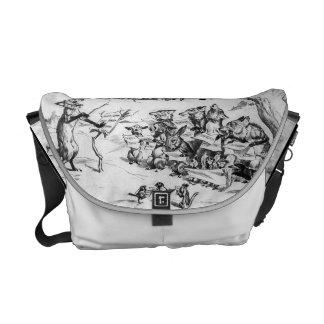 Animal Chorus by Pughe - Vintage Rickshaw Bag Messenger Bag