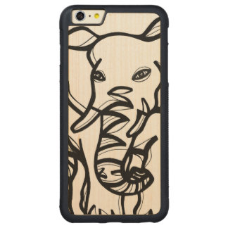 Animal Clever Fabulous Lovely Carved® Maple iPhone 6 Plus Bumper Case