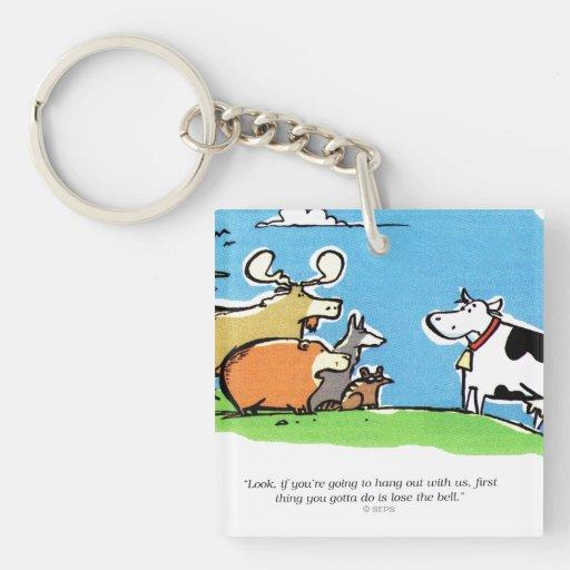 Animal Click Square Acrylic Key Chains
