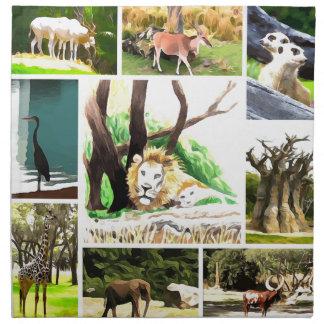 Animal Collage Napkin