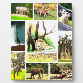 Animal Collage Plaque