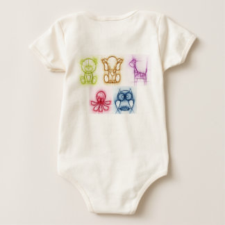 Animal Colors Baby Bodysuit