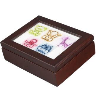 Animal Colors Keepsake Box