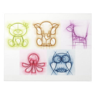 Animal Colors Notepad