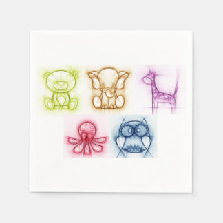 Animal Colors Paper Napkins