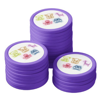 Animal Colors Poker Chips