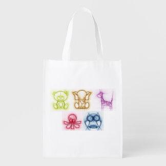 Animal Colors Reusable Grocery Bag