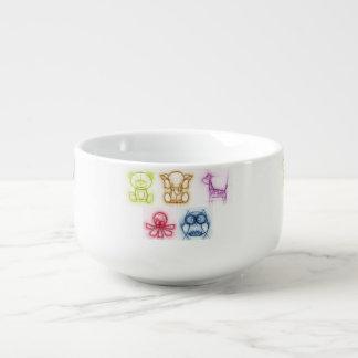 Animal Colors Soup Mug