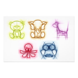 Animal Colors Stationery